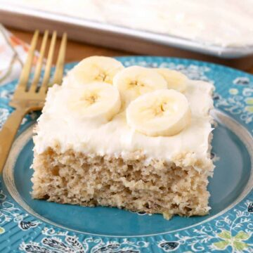 Banana Cake Bars with Cream Cheese Frosting