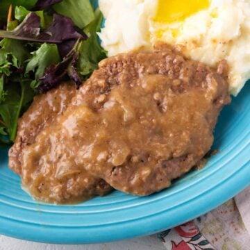 Cube Steak with Onion Gravy