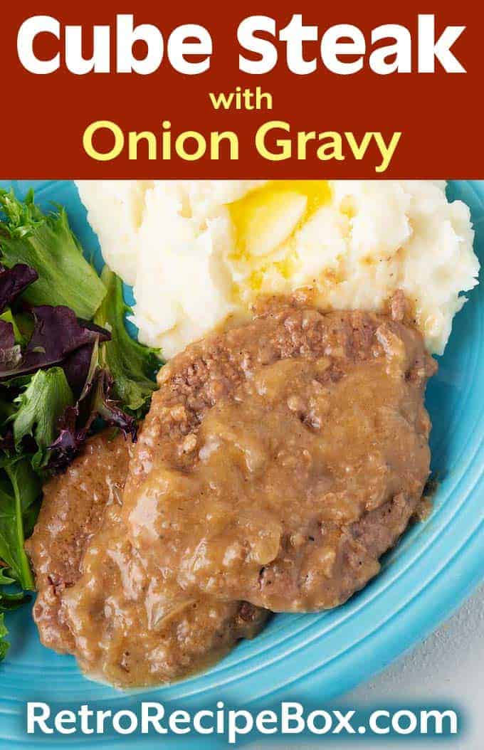 Cube Steak with Onion Gravy