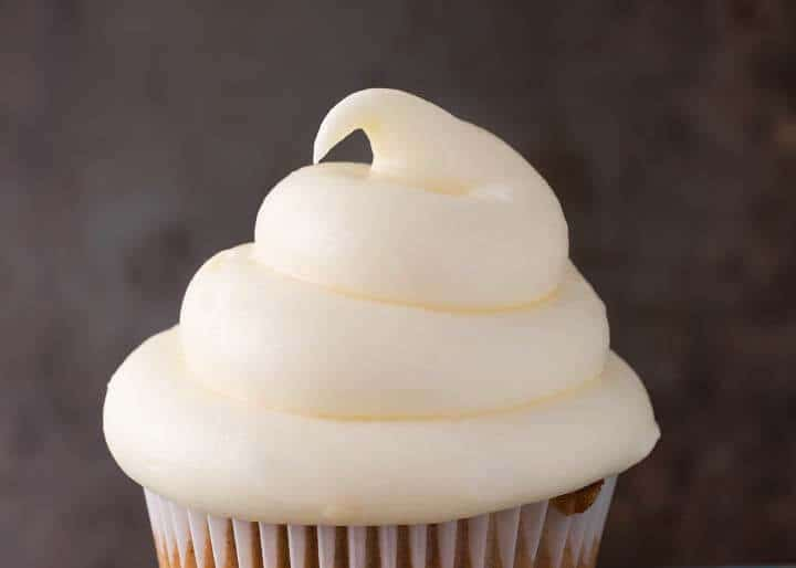 close up of frosting