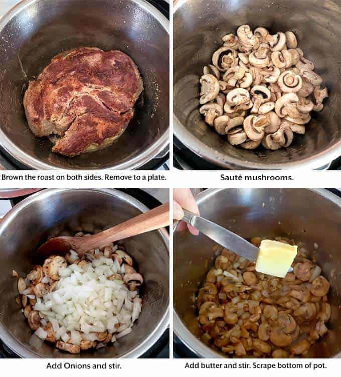 making Beef Stroganoff