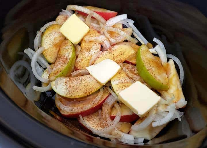 Slow Cooker Apple Cinnamon Pork Chops