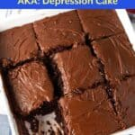 Chocolate Wacky Cake - Depression Cake