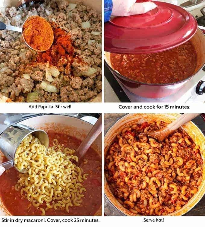 making Goulash