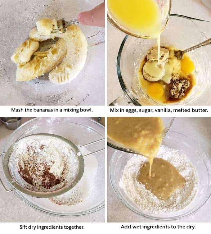 preparing Banana Muffins