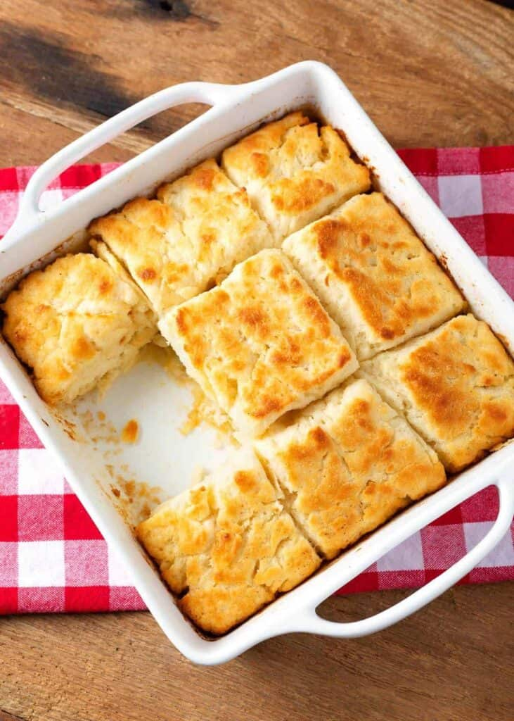 Biscuits in a baking pan