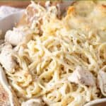 Chicken Alfredo Casserole pin
