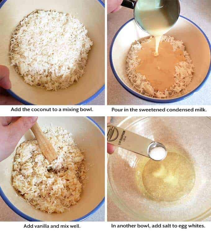 making the Coconut Macaroons