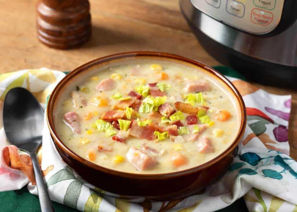 pressure cooker Potato Ham Chowder