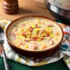 Instant Pot Potato Ham Chowder