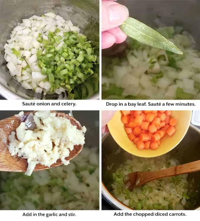 making Potato Ham Chowder