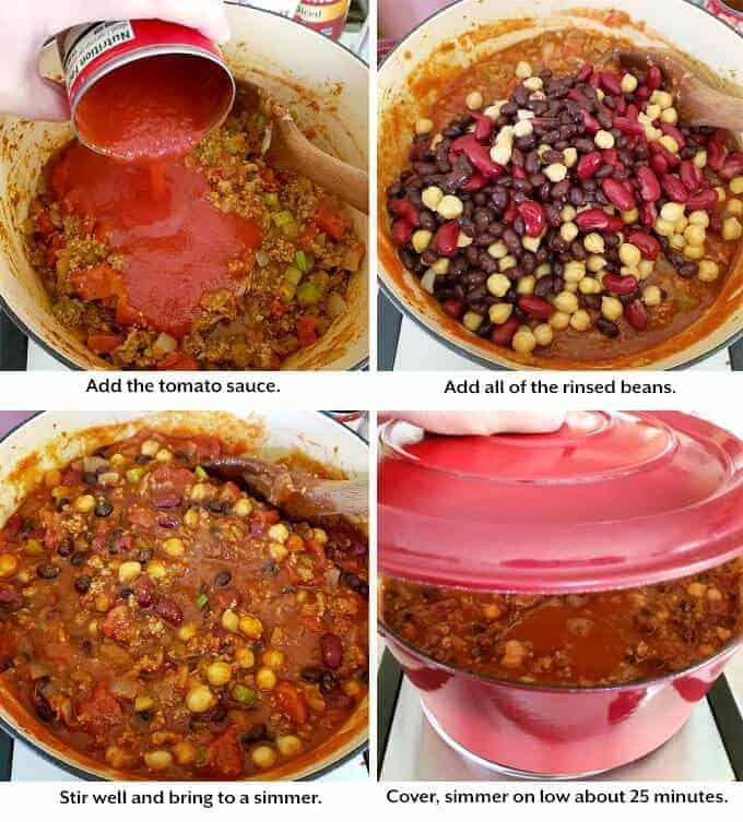 Chili being prepared