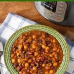 Instant Pot Hamburger Baked Beans pin