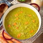 Split Pea Soup in a dutch oven from above
