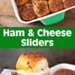 Ham and Cheese Sliders pinterest pin