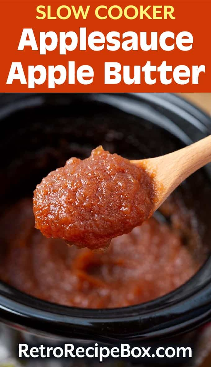 Slow Cooker Applesauce Apple Butter pinterest pin