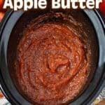 Slow Cooker Applesauce Apple Butter pinterest pin