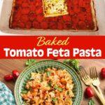 Baked Tomato Feta Pasta pinterest pin