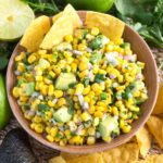 Easy Corn Salsa in a bowl from above