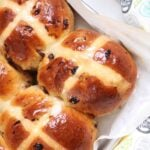 Hot Cross Buns close up from above