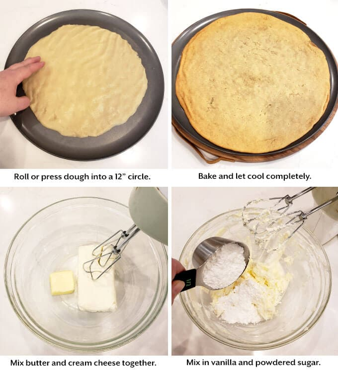 prepareing cookie dough, mix frosting