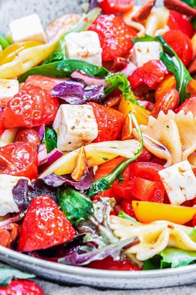 close up of prepared Salad