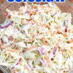 Easy Coleslaw close up