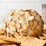 Nutty Bacon Cheese Ball close up