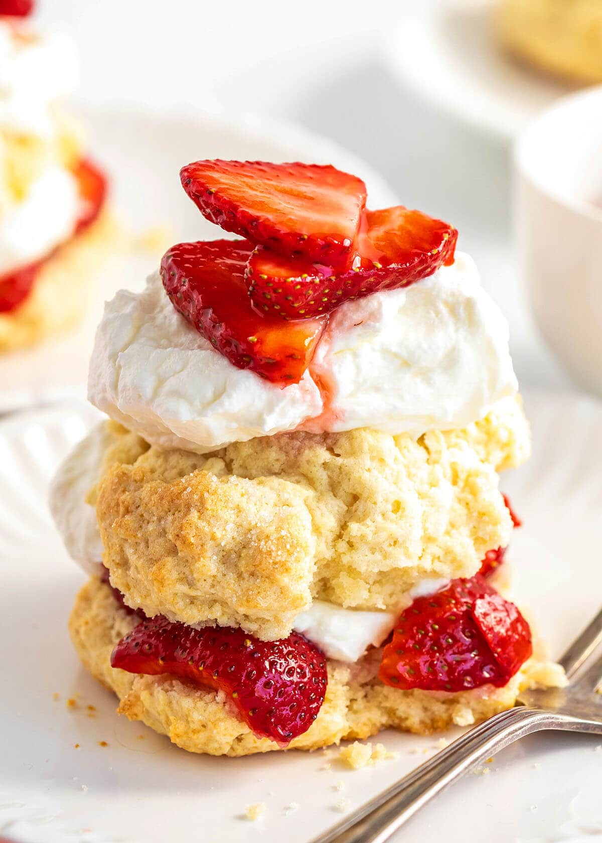 close up of Old Fashioned Strawberry Shortcake