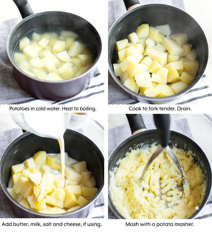 steps to boil in pan, and add other ingredients