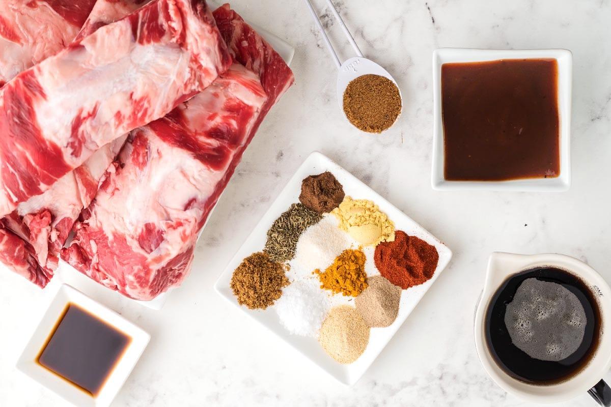 Slow Cooker Beef Ribs ingredients