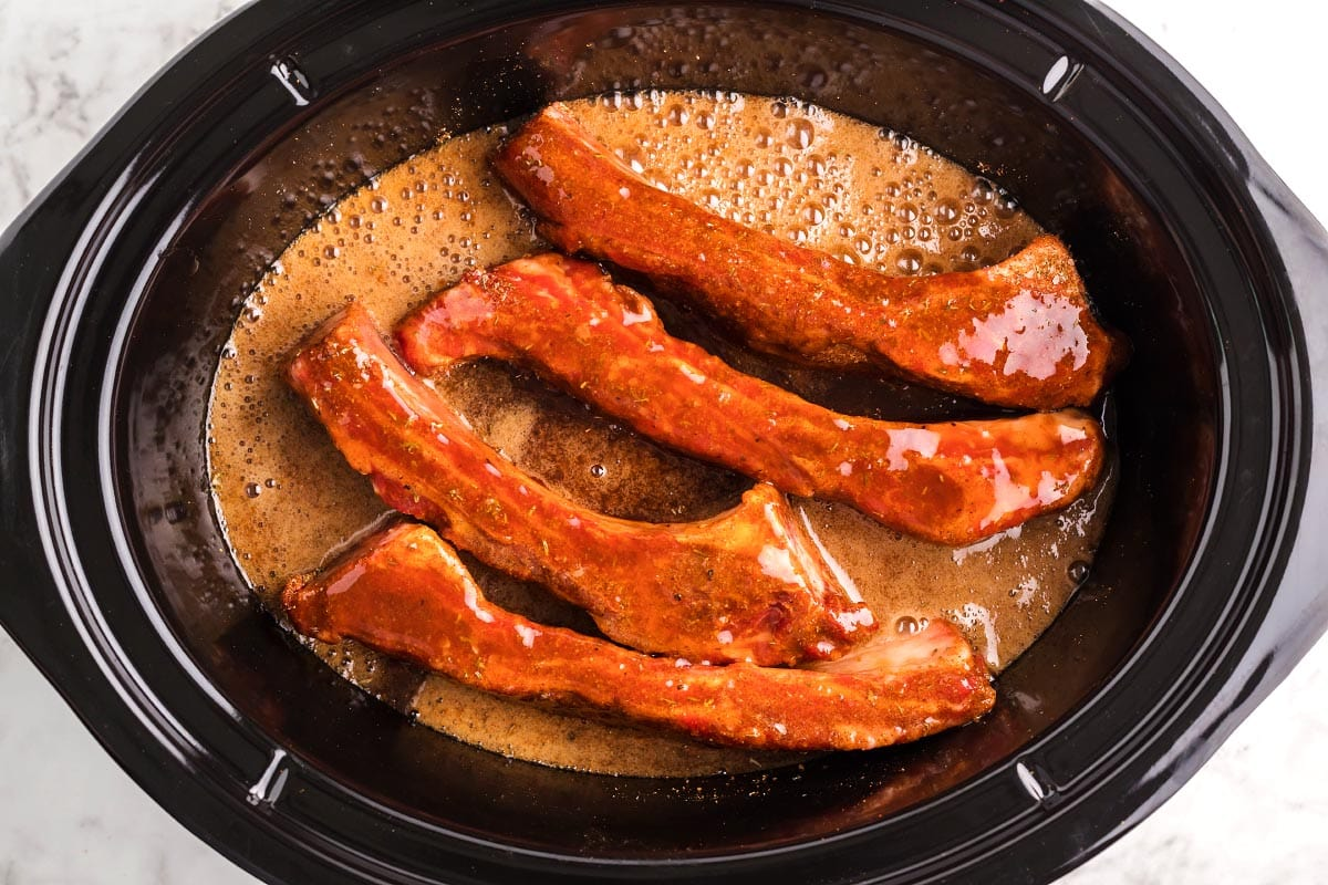 Beef Ribs in slow cooker