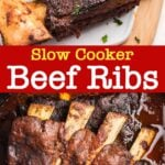 Slow Cooker Beef Ribs pin