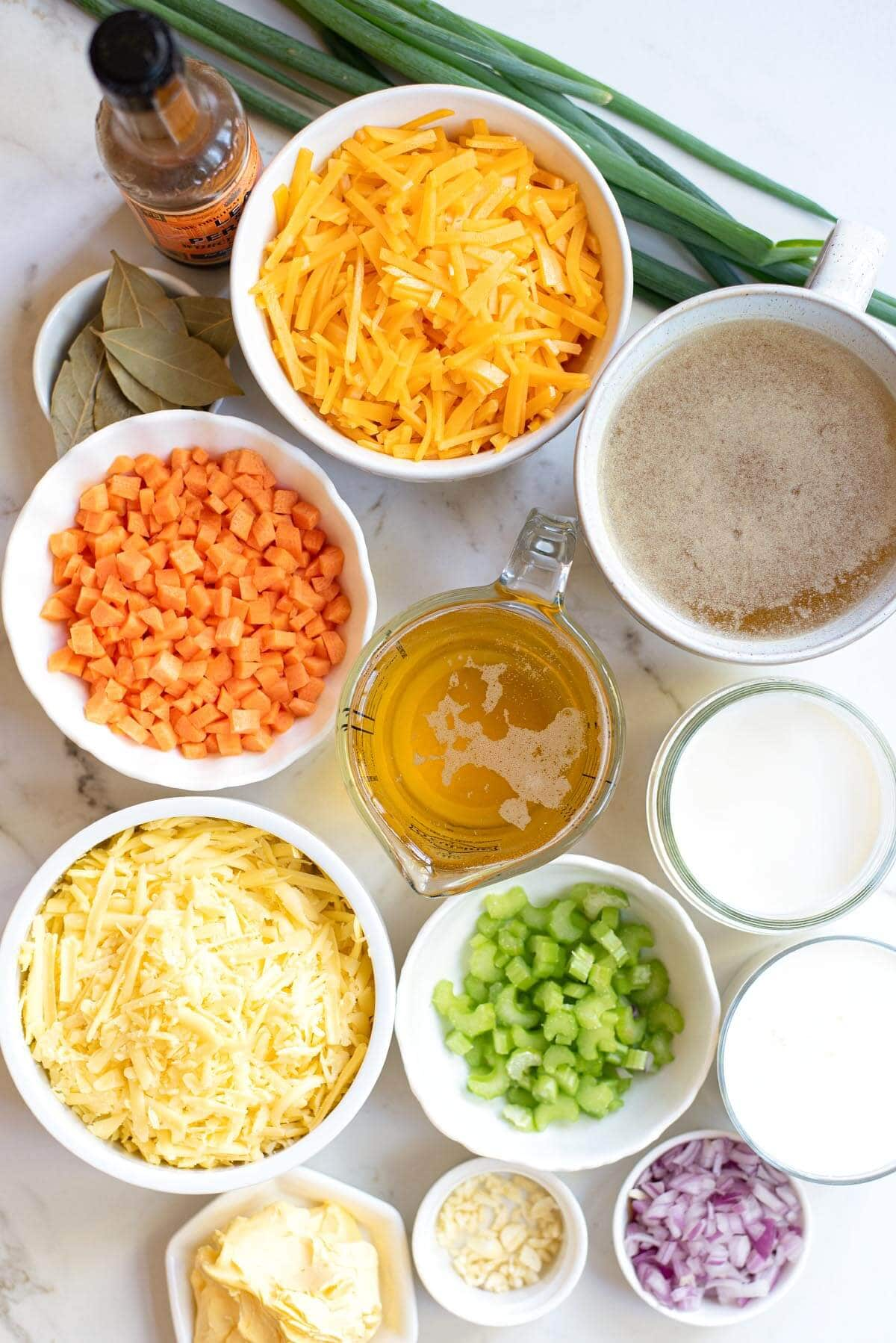cheese soup ingredients