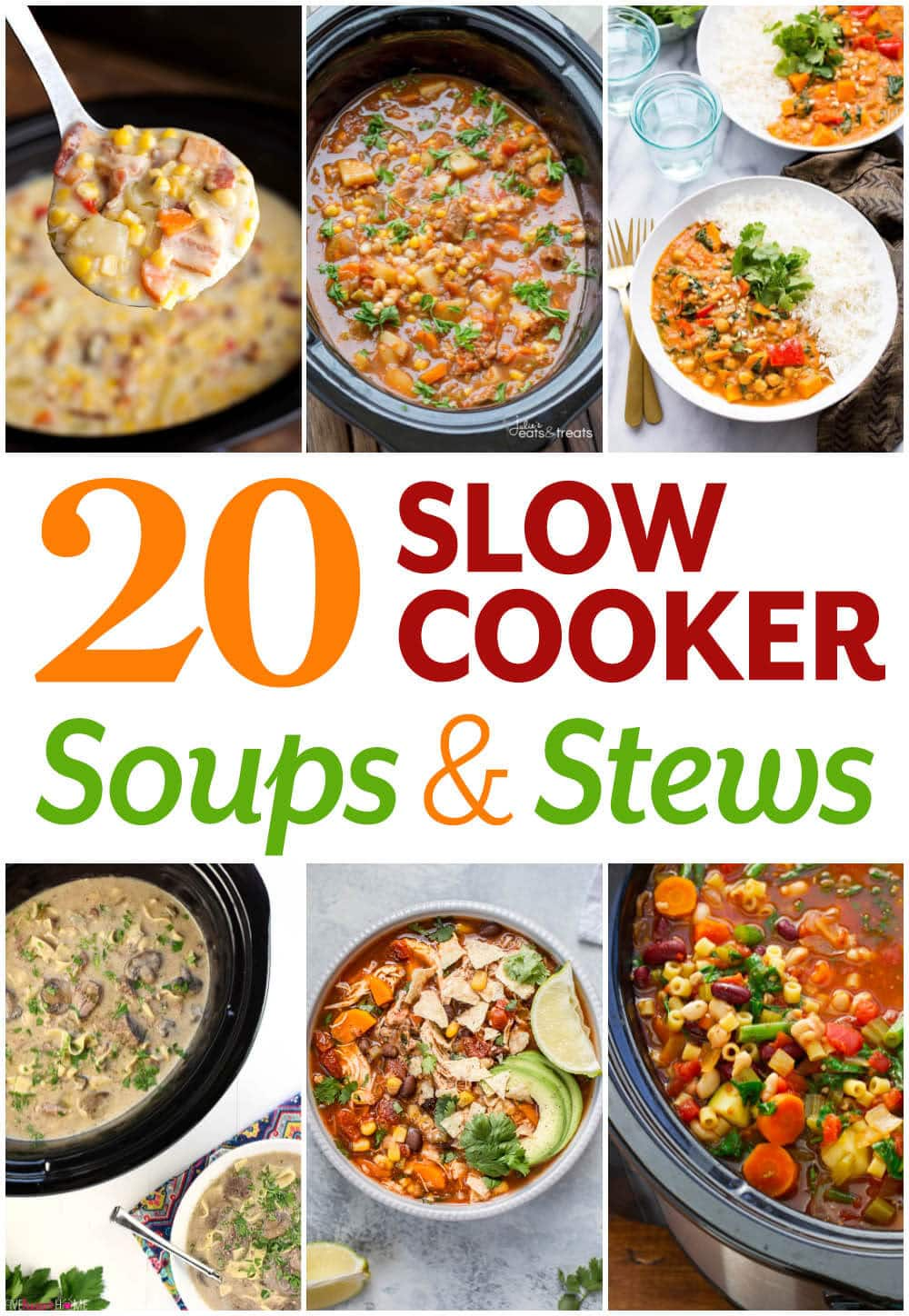 20 Slow Cooker Soup and Stew recipes